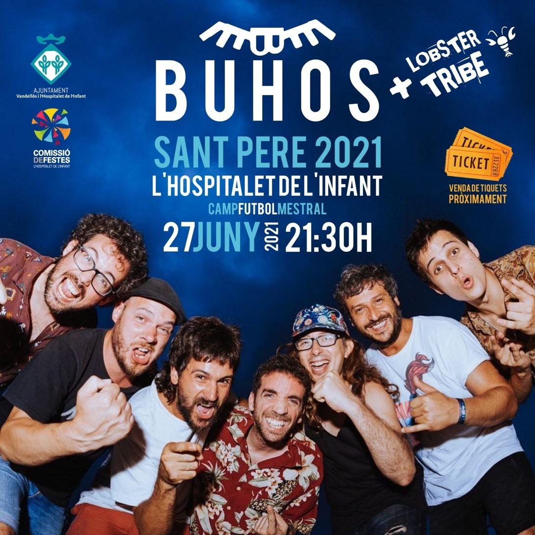 Concert de Buhos / 27-06-2021, a les 21:30 h