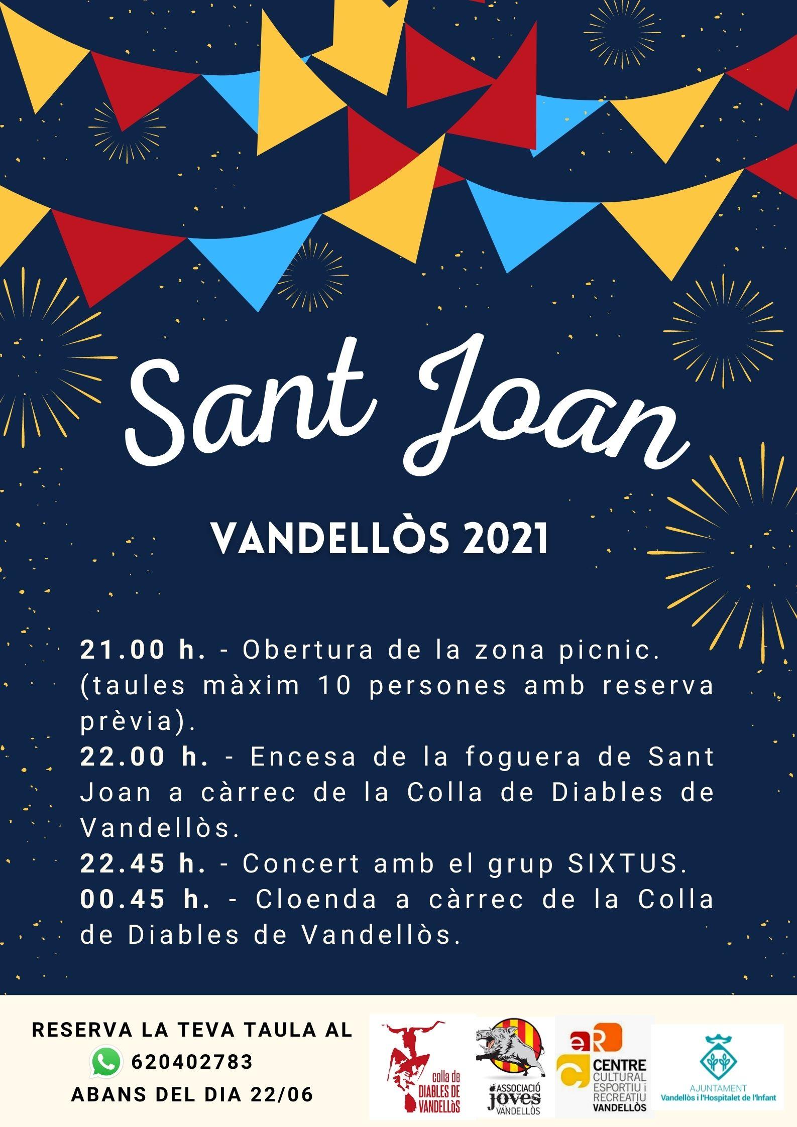 Celebració de Sant Joan a Vandellòs / 23-06/2021