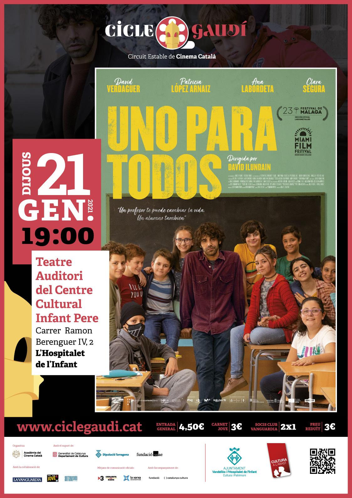 Cinema Cicle Gaudí: UNO PARA TODOS