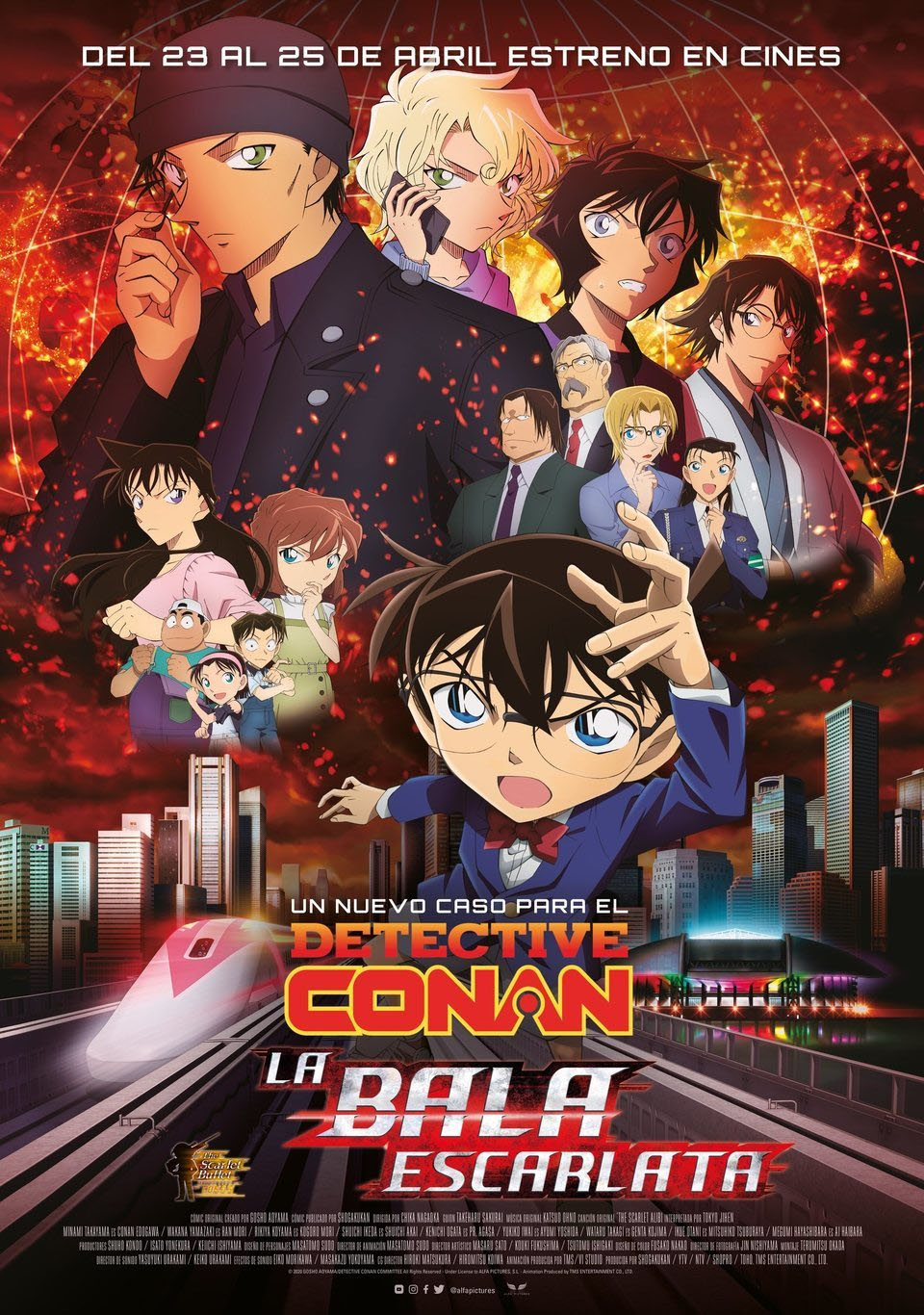 Cinema: DETECTIVE CONAN. La bala escarlata / 27-06-2021, a les 18.30 h, al Teatre Auditori de l'Hospitalet de l'Infant