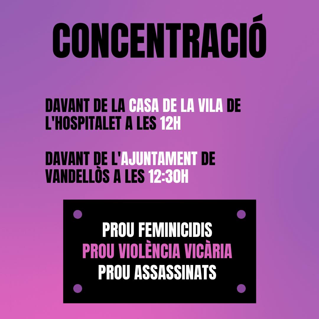 Concentració contra la violència masclista i vicària