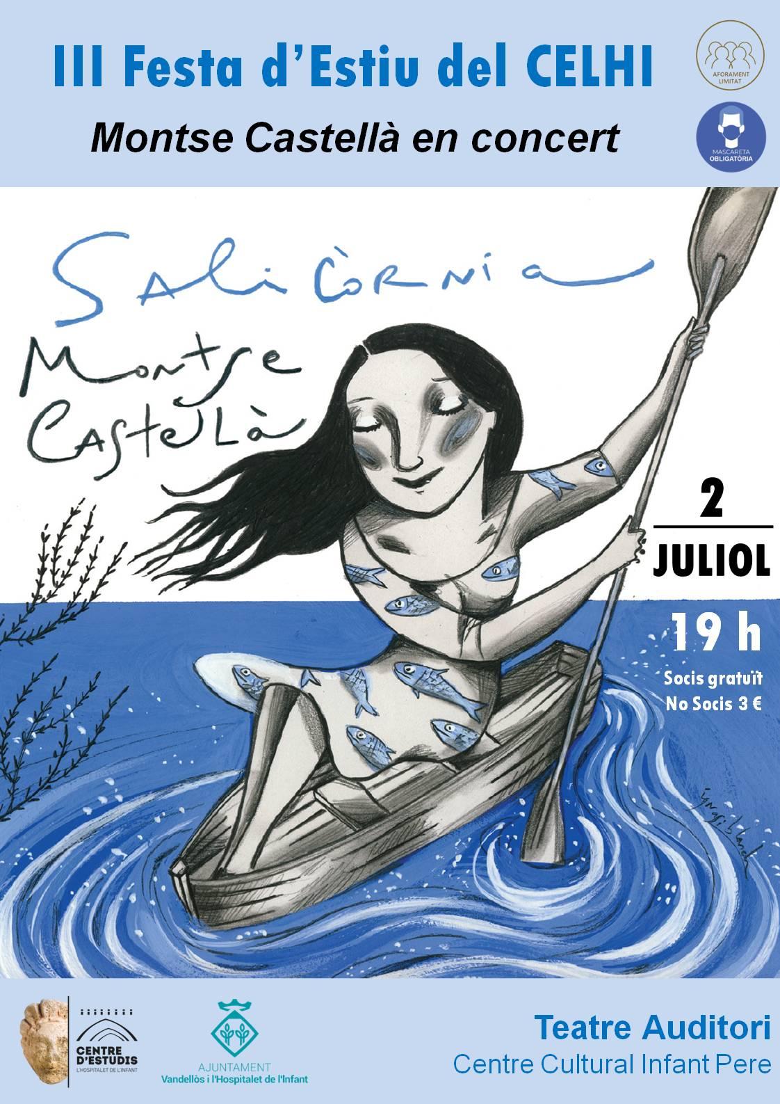 Concert de Montse Castellà / 02-07-2021, a les 19 h, al Teatre-Auditori de l'Hospitalet de l'Infant