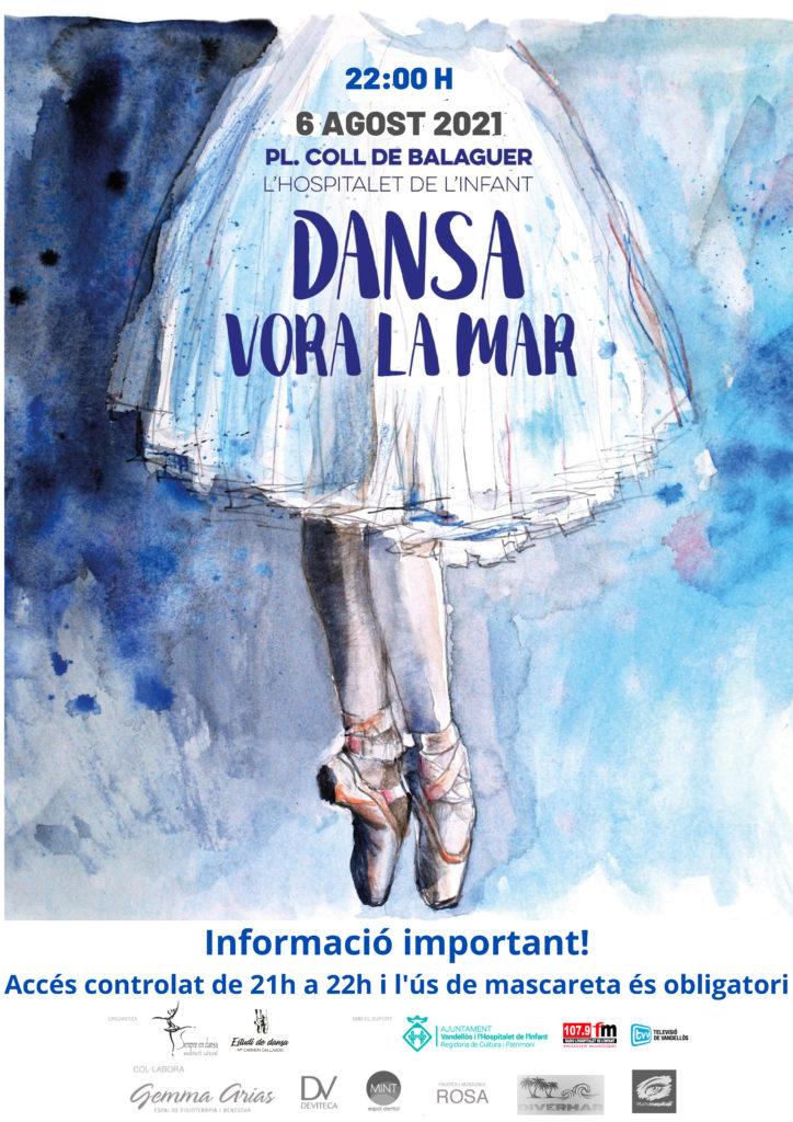 DANSA – Dansa vora la mar / 06-08-2021, a les 22 h, a L'Hospitalet de l'Infant