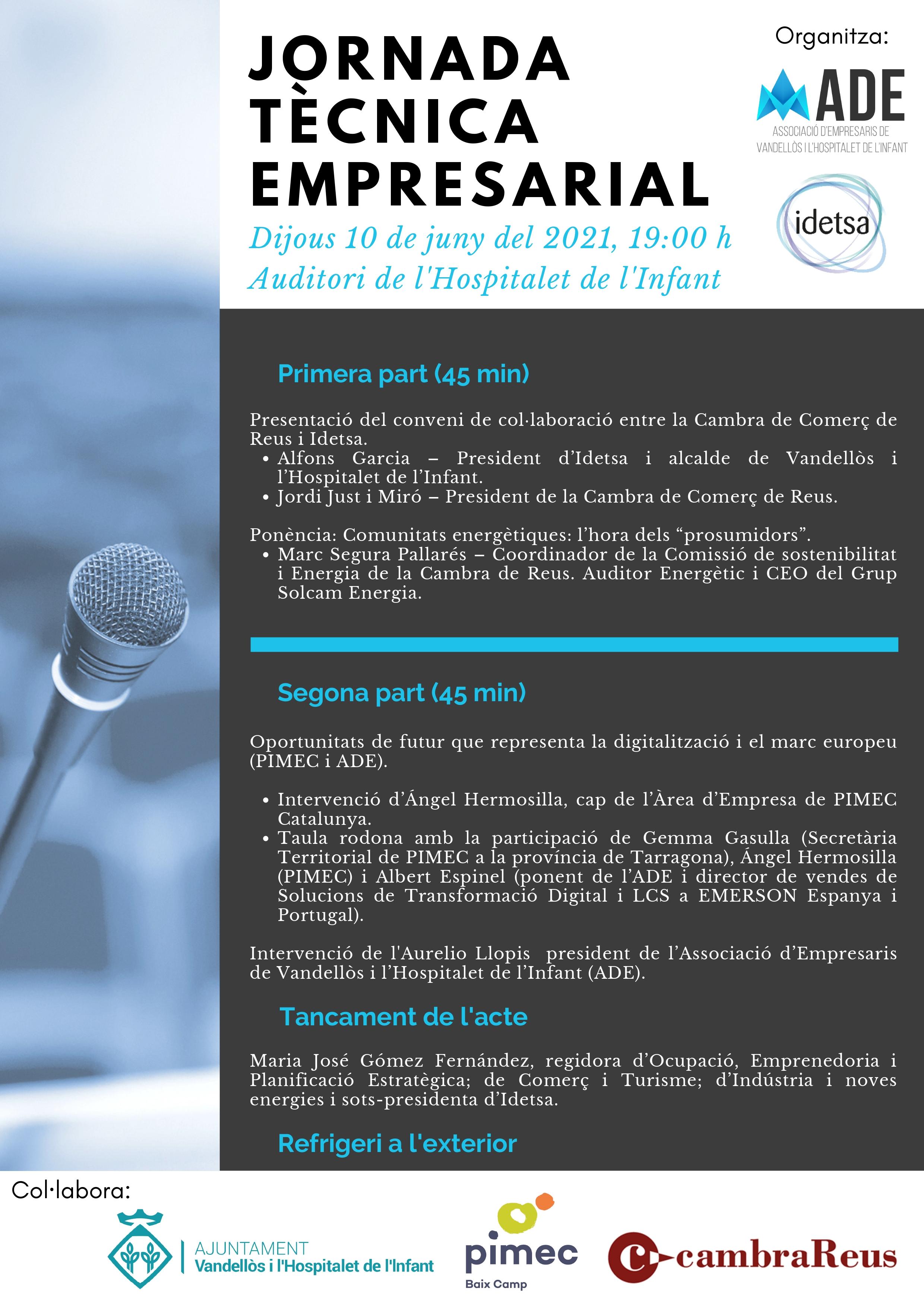 Jornada tècnica empresarial / 10-06-2021 al Teatre Auditori de l'Hospitalet de l'Infant