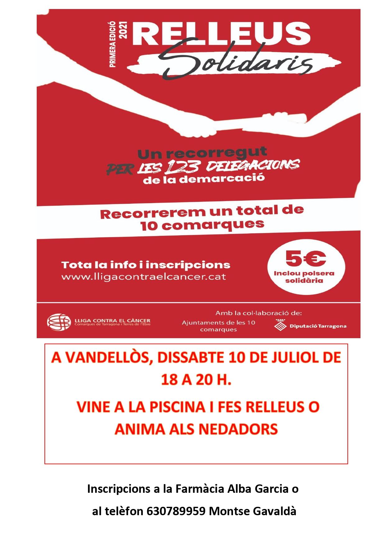 Nedada solidària contra el càncer / 10-7-2021, a Vandellòs