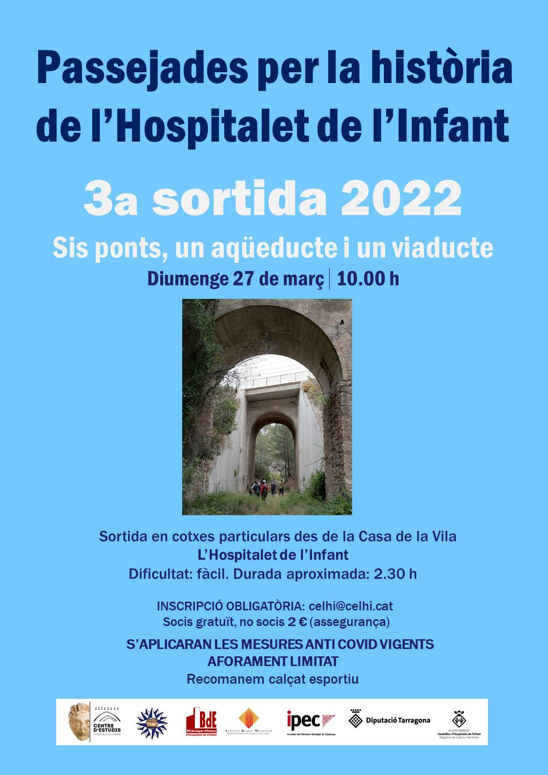 Passejades per la història de l'Hospitalet de l'Infant - 1a sortida 2021