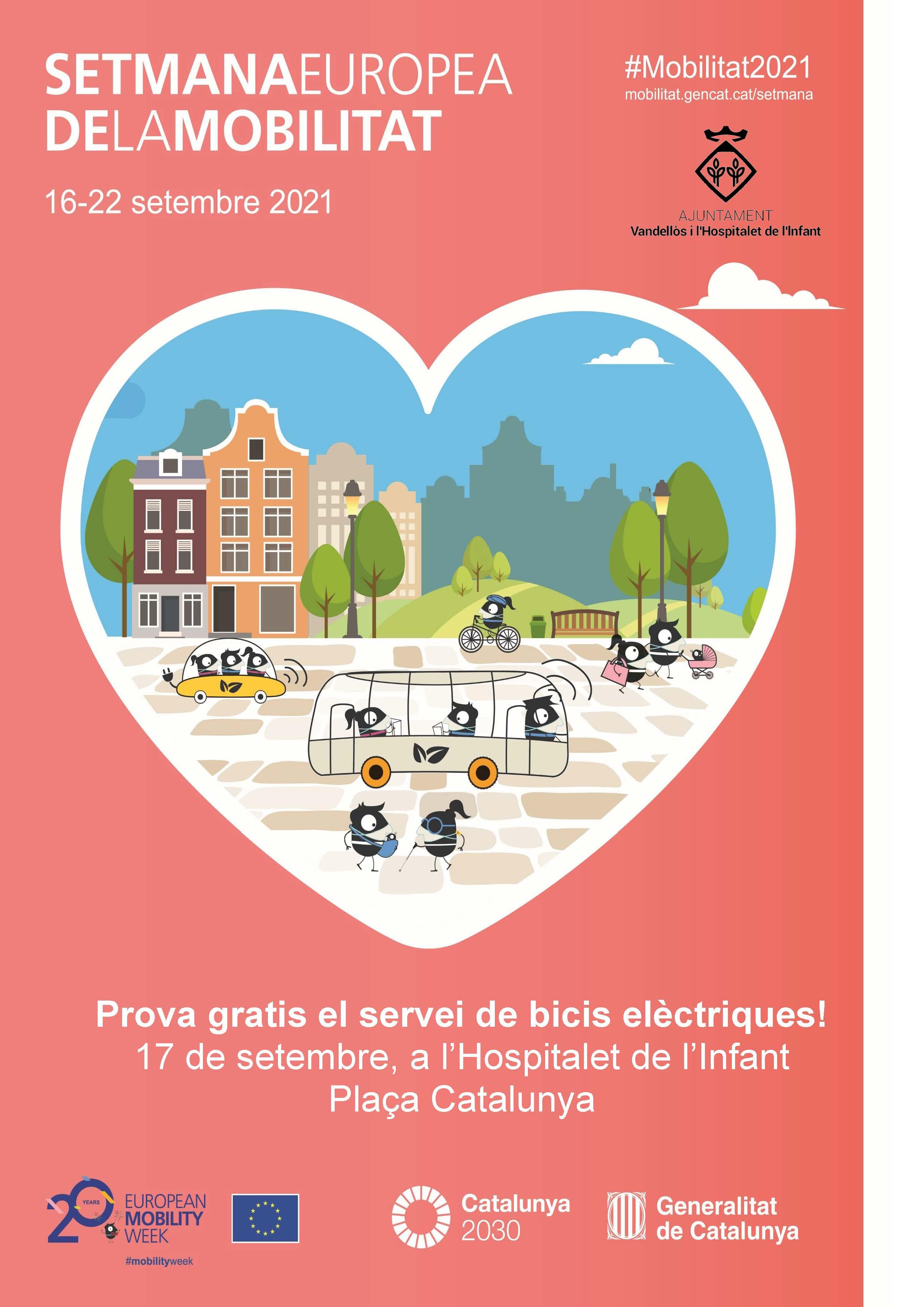 Abonaments gratuïts de 15 minuts per provar el servei públic de lloguer de bicicletes elèctriques, el 17 de setembre a l'Hospitalet de l'Infant