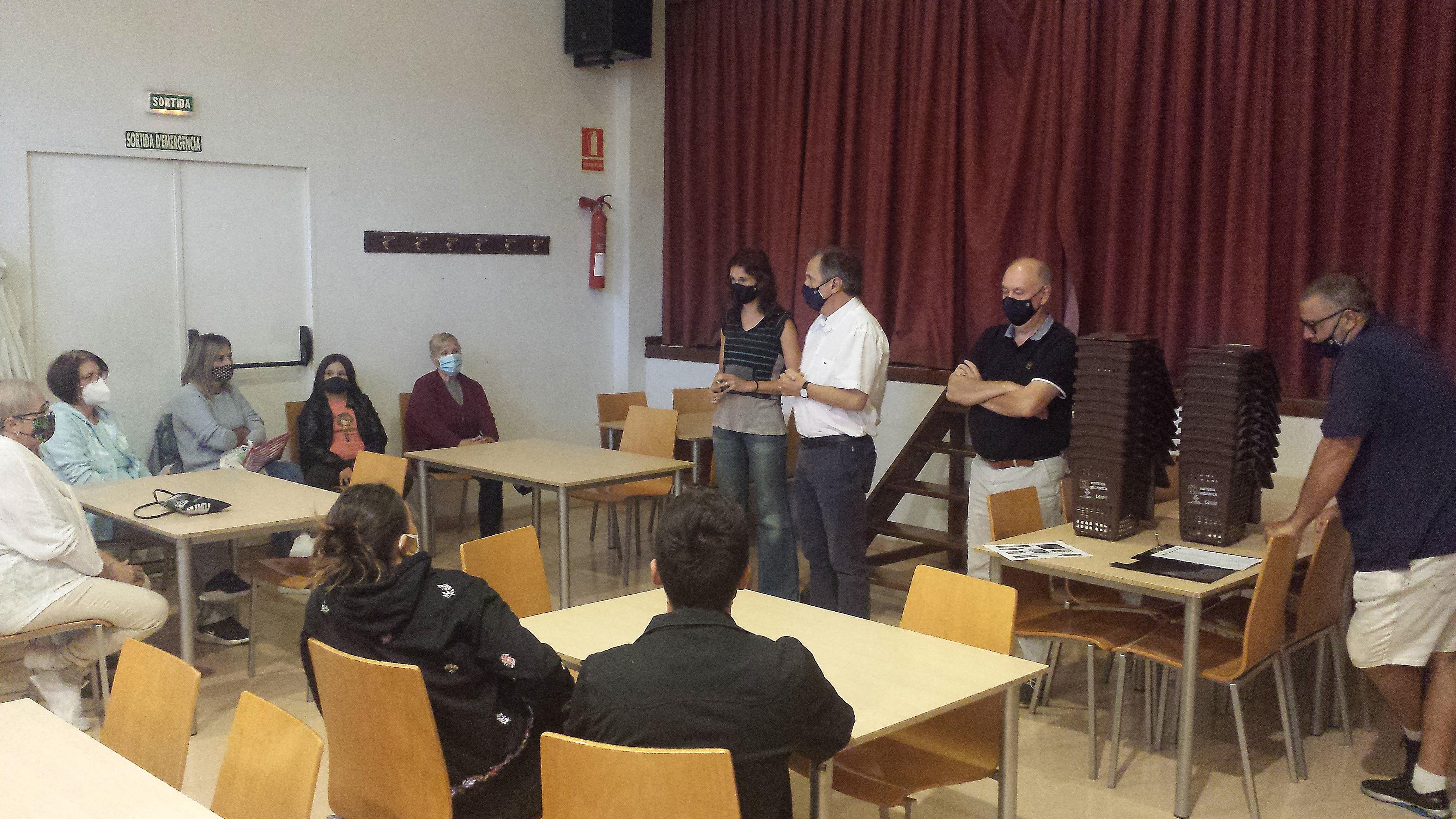 El poble de Masboquera estrena el servei de recollida porta a porta de matèria orgànica
