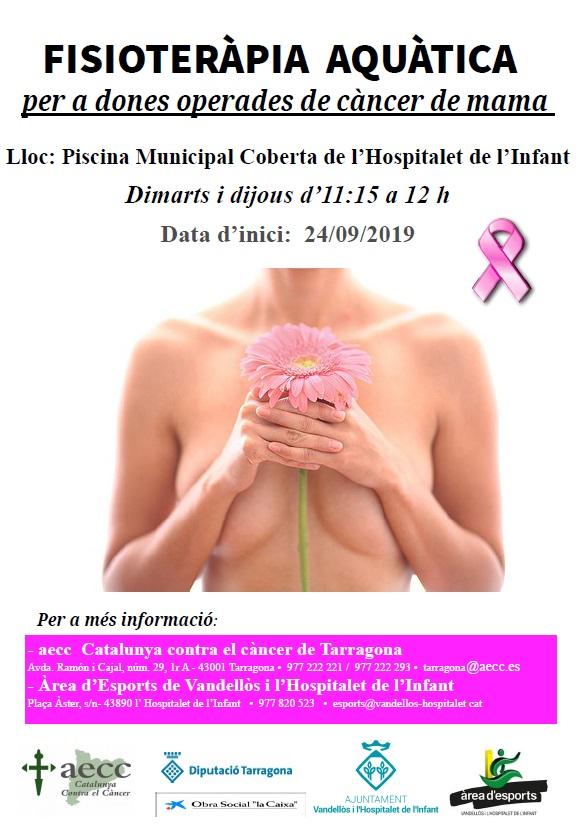 Fisioteràpia aquàtica per a dones operades de càncer de mama, a la Piscina Municipal Coberta