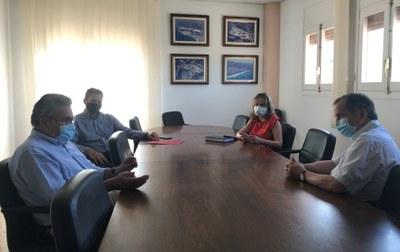 Imatge d'arxiu d'una reunió mantinguda a la Casa de la Vila amb el president de la Cambra, Jordi Just