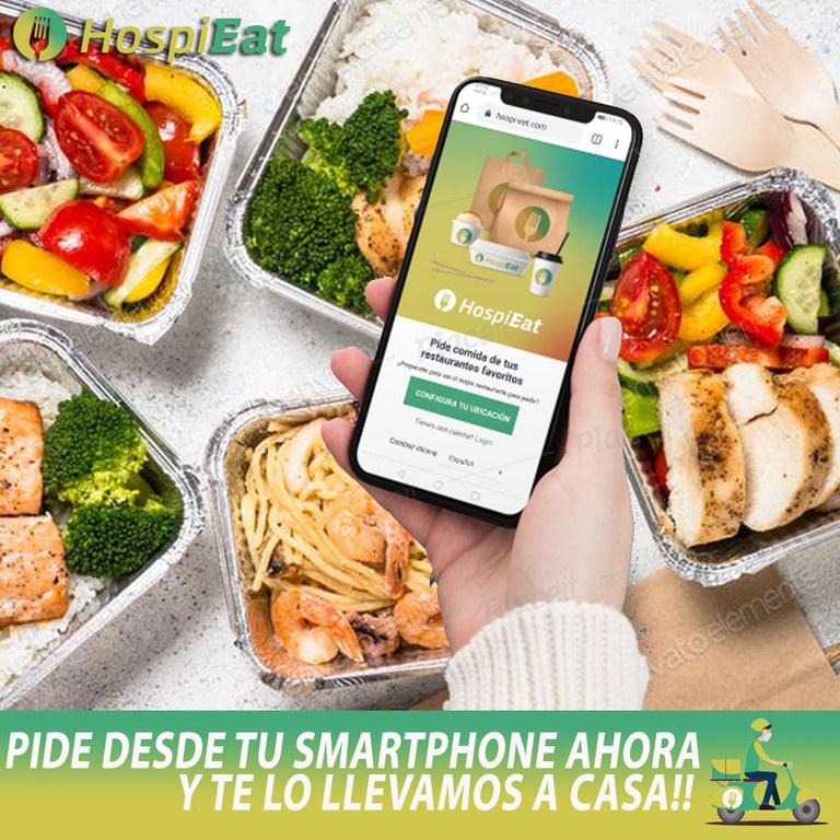 Imatge promocional de l'app Hospi-Eat