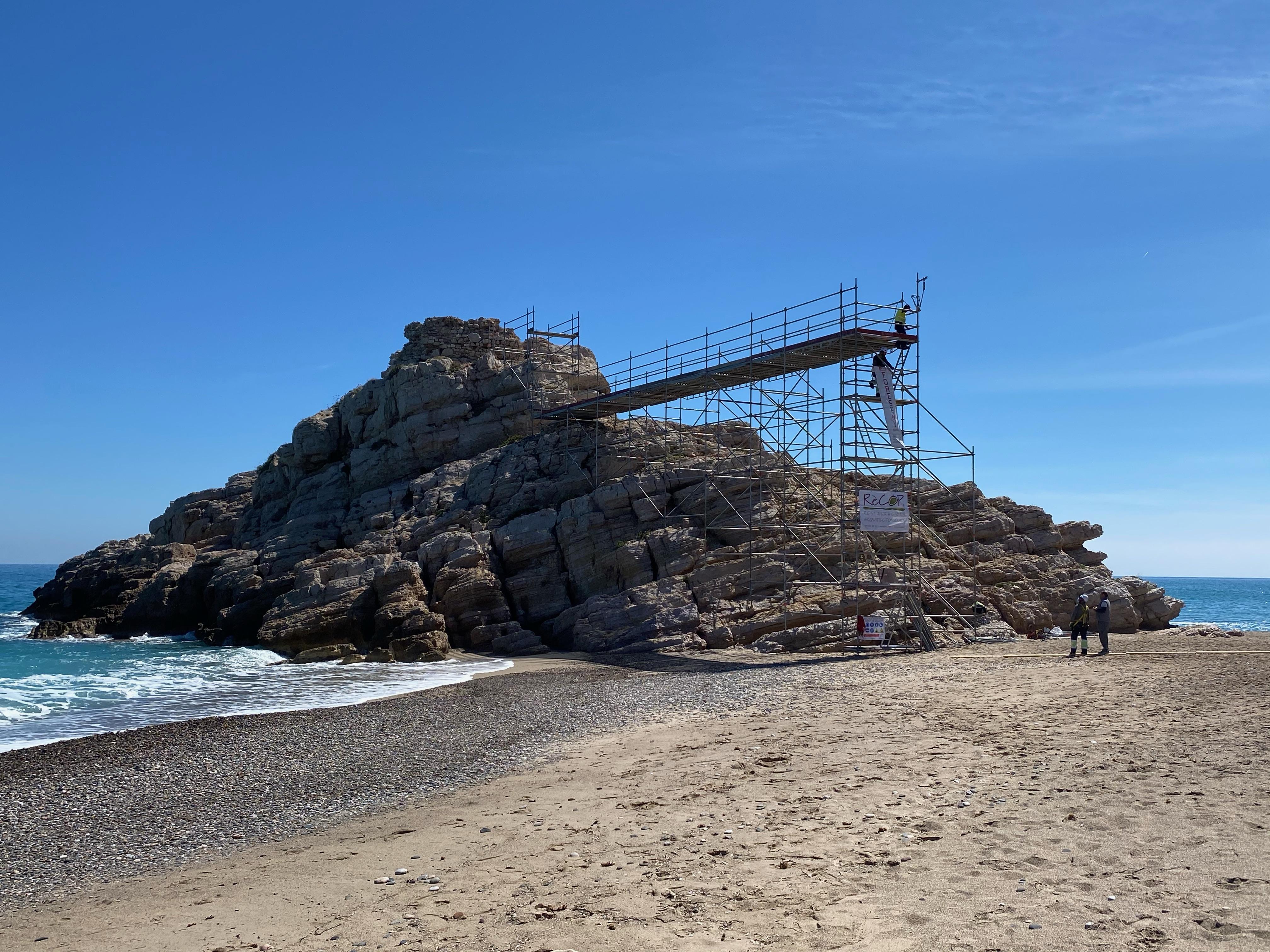 L'Ajuntament de Vandellòs i l'Hospitalet de l'Infant està consolidant les restes de la torre de l'Illot del Torn