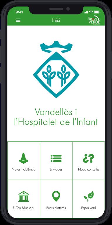 Imatge del servei Línea Verda en el mòbil