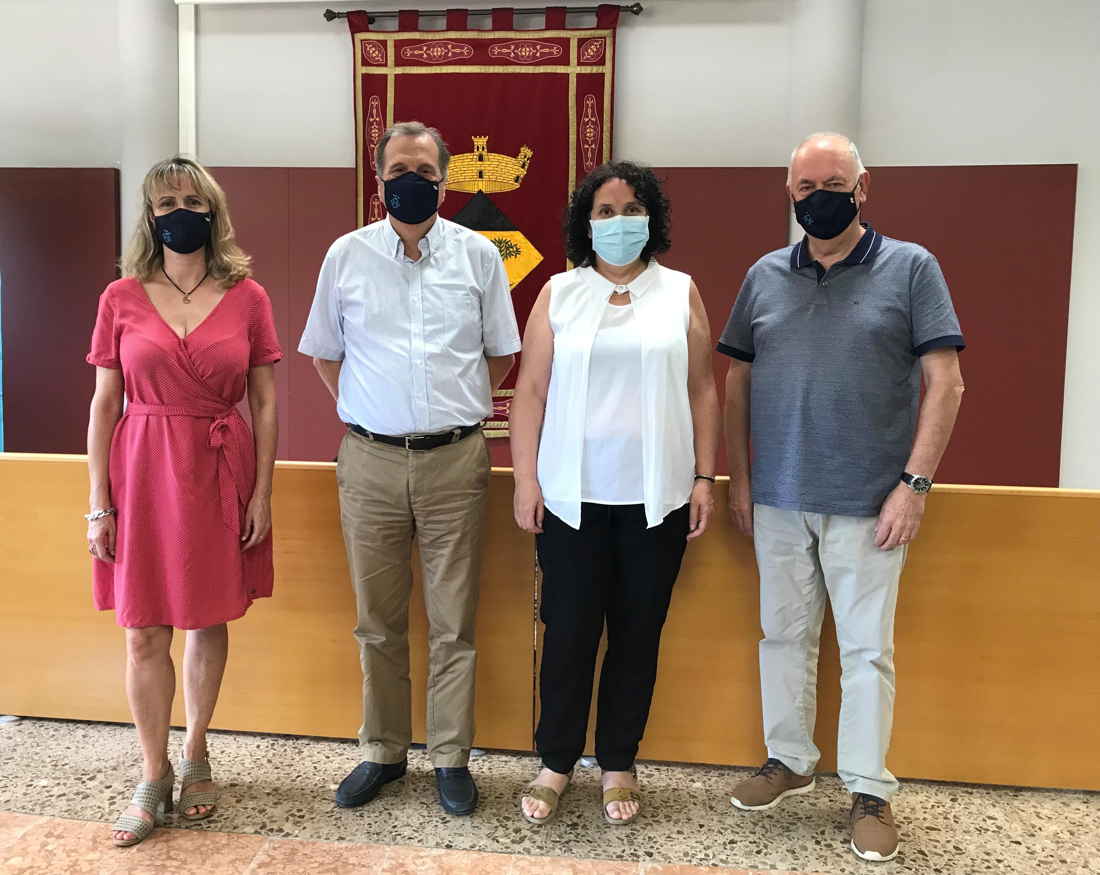 L'Ajuntament de Vandellòs i l'Hospitalet de l'Infant rep la visita de la presidenta del Consell Comarcal del Baix Camp