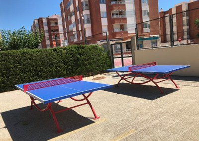 Les dues taules de ping-pong