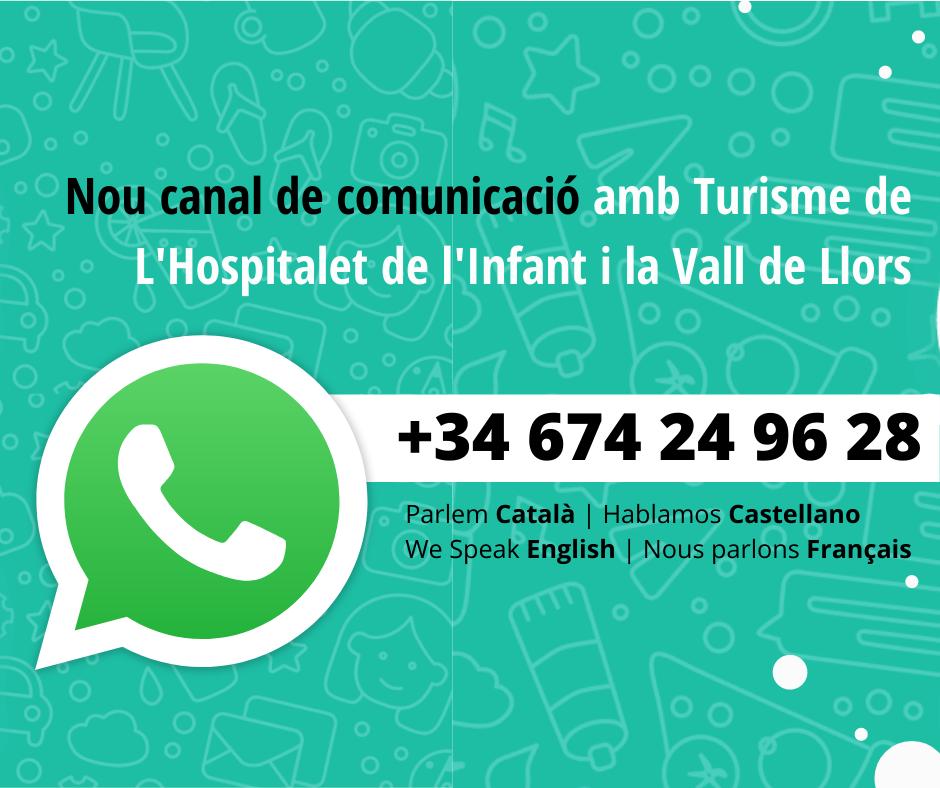 L'àrea de Turisme de l'Ajuntament de Vandellòs i l'Hospitalet de l'Infant obre un nou canal de comunicació per Whatsapp