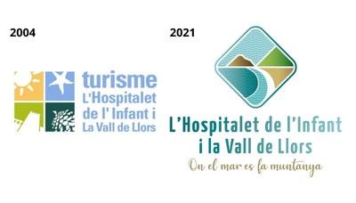 El logo existent des de l'any 2004 i el nou