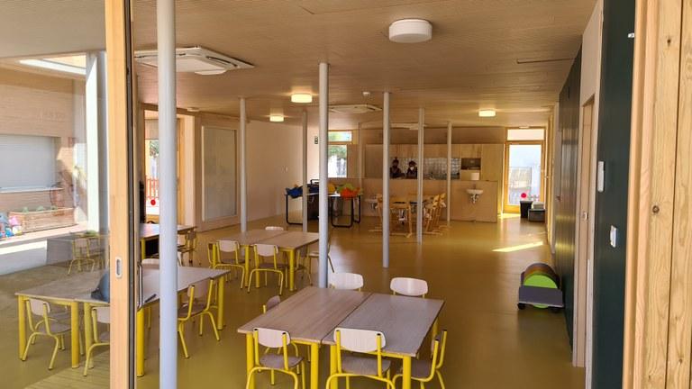 L'interior del nou menjador de la llar d'infants