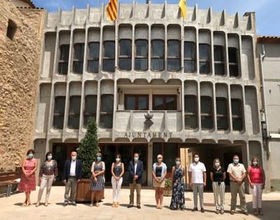 Els membres del consistori (falta la regidora Assumpció Castellví, que no ha pogut assistir a la sessió plenària)