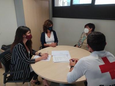 Reunió dels representants de l'Ajuntament i de la Creu Roja