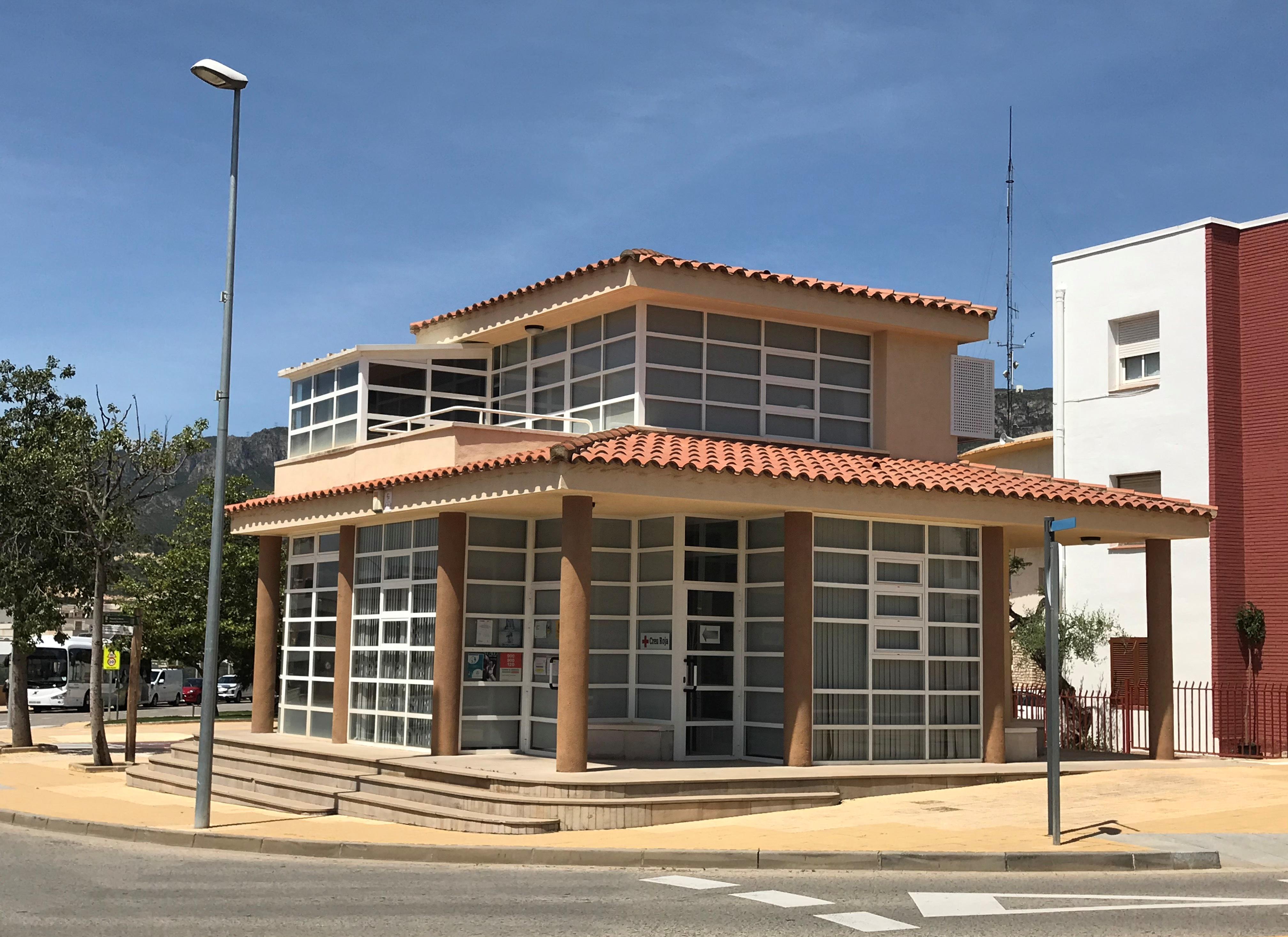L'Oficina de Benestar Social, on està ubicat el punt d'atenció de la Creu Roja