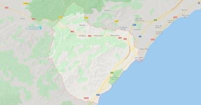 Imatge de Google Maps en què es veu la ubicació del municipi de Vandellòs i l'Hospitalet de l'Infant