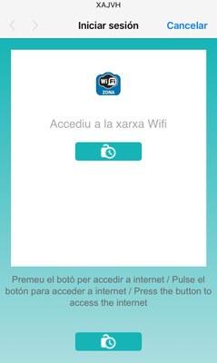 Imatge que es veu quan una persona es connecta al Wifi de l'Ajuntament a través del mòbil