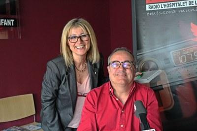 El director de la Ràdio, Ricard del Amo; i la cap de redacció, Estrella Botello