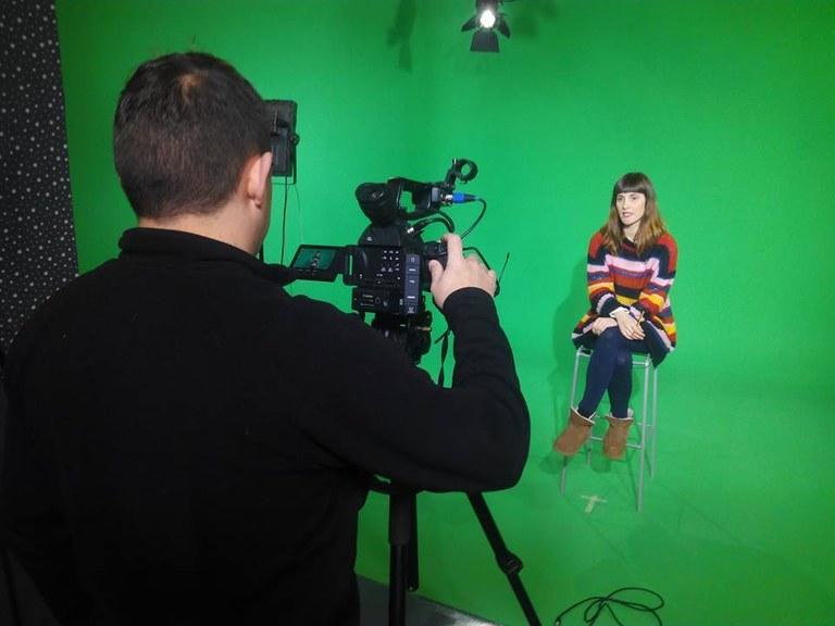 Imatge d'una gravació al plató de la TVV