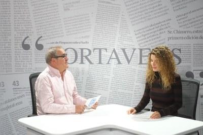 """Imatge del plató del programa """"Portaveus"""" de la TVV"""