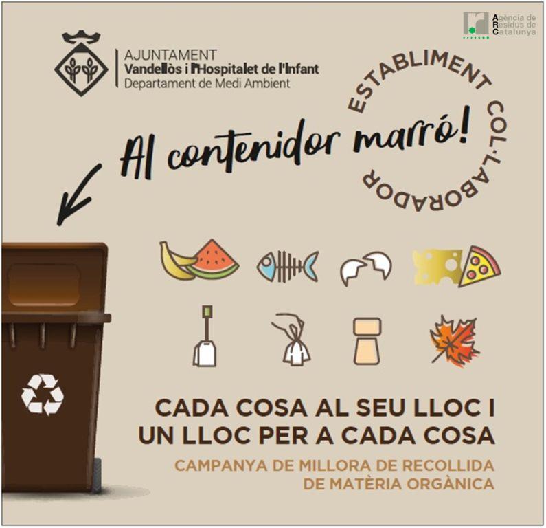 Campanya de recollida de Matèria Orgànica als grans productors del Municipi